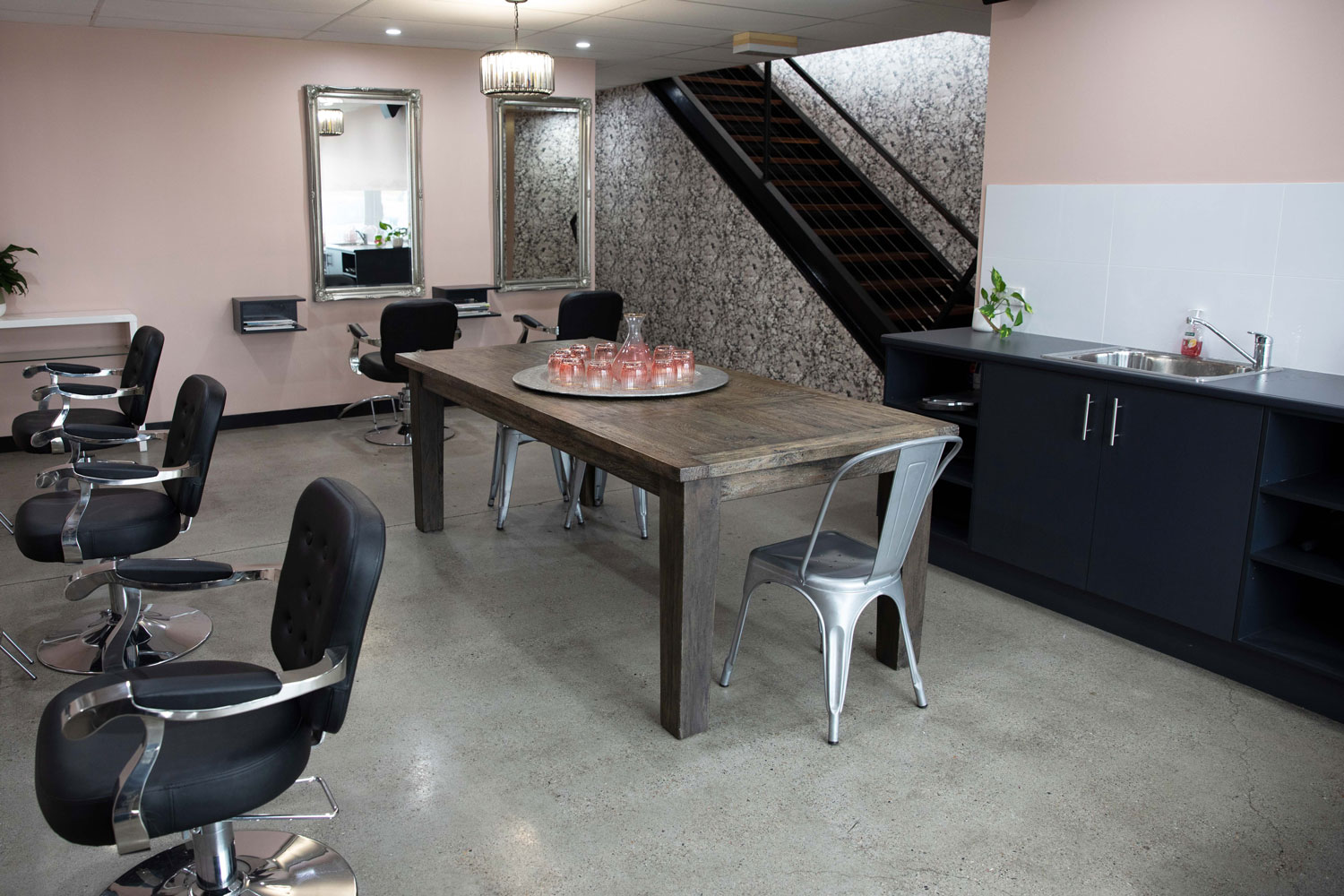 bhair salon basement overview